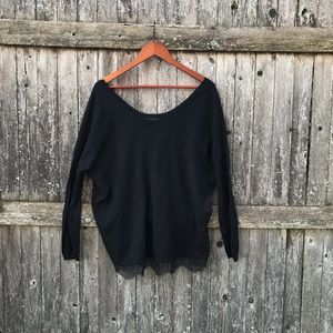 Joie Lightweight sweater with lace trim